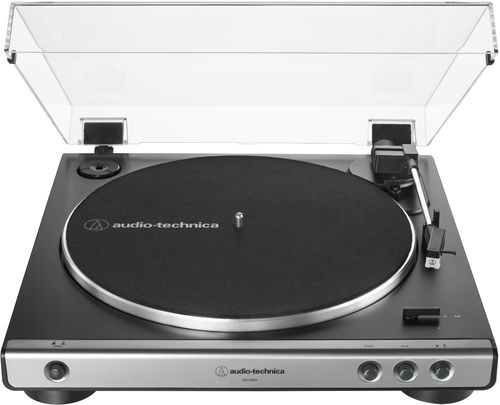 Audio Technica AT-LP60X-GM – Fully Automatic Belt-Drive Turntable 33/45 RPM Speeds with Phono Preamp Includes Dust Cover and Dual Magnet Phono Cartridge (Gun Metal/Black)